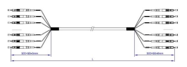 Dây nhảy quang Multi Core SC/UPC-SC/UPC( Patch core Multicore)