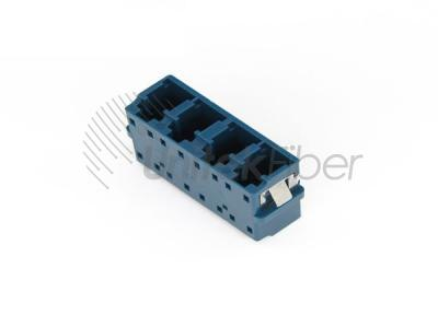 Fiber Optical Adapter Coupler LC-LC Quad with Short ear Blue