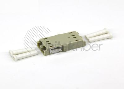 FTTx LC/PC - LC/PU Fiber Optic Mating Sleeve Duplex OM1 0.2dB Beige